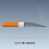 31 de mayo mundo ningún día del tabaco Veneno del cigarrillo Vector Foto de archivo libre de regalías