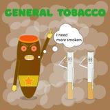 31 de mayo, ningún día del tabaco, cigarrillos cubanos de las órdenes del cigarro para capturar a más personas Ilustraci?n del ve foto de archivo libre de regalías