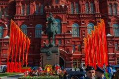 9 de mayo regimiento del Immortal de Moscú Fotografía de archivo