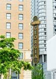 12 de mayo de 2019 - Vancouver, Canadá: Alojamientos de lujo de Georgia del hotel del palo de rosa, exterior en Georgia y calles  fotos de archivo