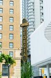 12 de mayo de 2019 - Vancouver, Canadá: Alojamientos de lujo de Georgia del hotel del palo de rosa, exterior en Georgia y calles  foto de archivo libre de regalías