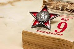 9 de mayo a Victory Day Imágenes de archivo libres de regalías