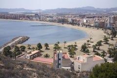 De Mazarron beach puerto Zdjęcie Royalty Free