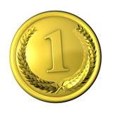 Or de médaille Photo stock