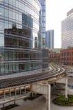 De meander van de treinsporen van Chicago door buurt royalty-vrije stock afbeelding