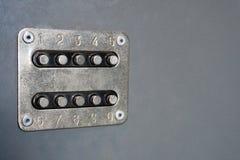 De mechanische controle van het deurslot Royalty-vrije Stock Foto