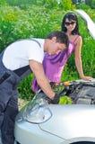 De mechanische maatregelen leiden zure batterij Stock Foto's