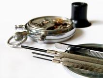 De mechanische uren van de reparatie Stock Foto's