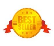De medaille van de best-seller Stock Foto's