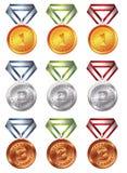 De medaille van de toekenning Royalty-vrije Stock Foto's