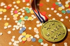 De Medaille van de winnaar Stock Fotografie