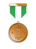 De Medaille van het brons Royalty-vrije Stock Afbeeldingen