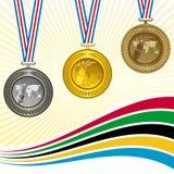 De medailles Stock Foto