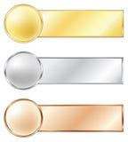 De medailles van de sport Stock Afbeeldingen