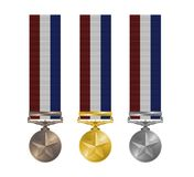De Medailles van de toekenning Stock Afbeeldingen