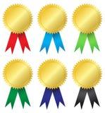 De medailles van de toekenning Stock Foto's