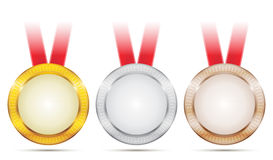 De Medailles van de voltooiing Stock Foto's