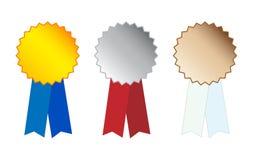 De Medailles van het zilver en van het Brons op wh royalty-vrije illustratie