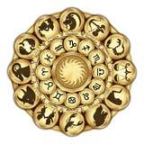 De medaillons van dierenriemtekens royalty-vrije stock afbeelding