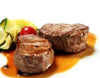 De Medaillons van het kalfsvlees stock foto's