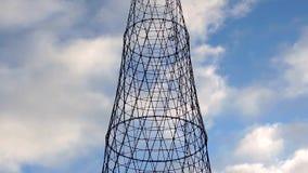 De mededeling brengt cel radio elektrotoren met wolken over stock videobeelden