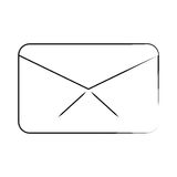 De mededeling van de berichtenvelop e-mail verdunt lijn royalty-vrije illustratie