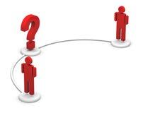 De Mededeling van de Mensen van het pictogram - Vraagteken Vector Illustratie