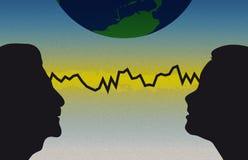 De Mededeling van de telepathie royalty-vrije illustratie