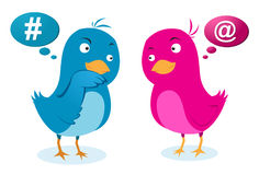 De mededeling van de vogelsliefde Royalty-vrije Stock Afbeelding