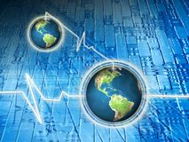 De mededeling van de wereld Stock Foto