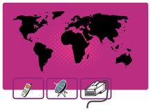 De mededeling van de wereld vector illustratie