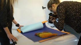 De mededeling van het de fotografiegroepswerk van het coulissevoedsel Royalty-vrije Stock Foto