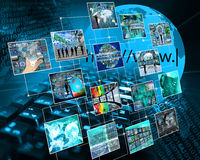 De mededeling van het netwerk Stock Foto
