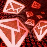 De mededelingen van de e-mailgegevensoverdracht Stock Foto's