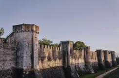 De medeltida tornen och vallarna royaltyfri foto