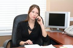 De medewerker van het bureau Stock Afbeeldingen