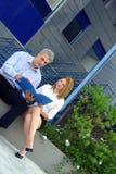 De medewerkers herzien A project-2 Stock Fotografie