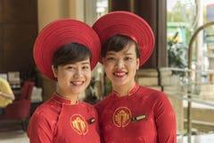 De medewerkers van de hotelgast stock foto