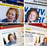 Margaret Thatcher overlijdt Stock Afbeelding