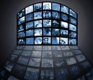 De media van de televisie technologie Stock Foto's