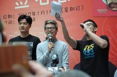 De Mediacorpartiesten in Singapore Jurong richten wandelgalerij Royalty-vrije Stock Foto's
