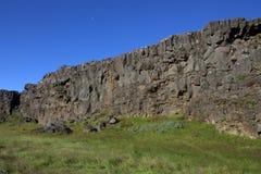 De medio-Atlantische Rand in IJsland in thingvellir Stock Afbeelding