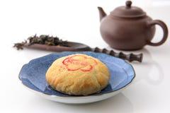 De medio-herfstfestival, maan het bekijken, thee, maancake, Taichung-zoncake royalty-vrije stock afbeeldingen