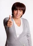 De medio volwassen vrouw van het succes Stock Foto's