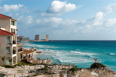 De medio Winter in Cancun Stock Afbeeldingen