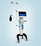 De medische ademhalingseenheid van het ziekenhuisventilator Stock Foto