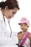 De medische controle van het kind Royalty-vrije Stock Foto's