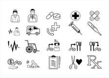 De medische het ziekenhuis injectie van de de behandelingsrolstoel van de artsengeneeskunde stock illustratie