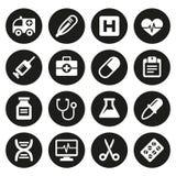 De medische pictogrammen plaatsen 1 Royalty-vrije Stock Afbeeldingen