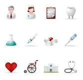 De Medische Pictogrammen van het Web - Stock Foto